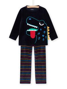 Pijama con estampado de dinosaurio fosforescente para niño MEGOPYJDIN / 21WH1293PYJ705