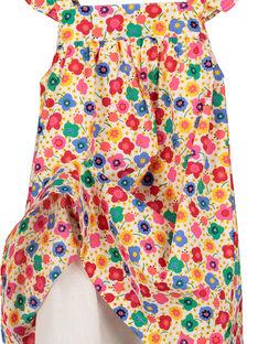 Vestido con estampado de fantasía para bebé niña FICOROB3 / 19SG0983ROB000