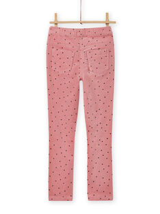 Pantalón de pana rosa de lunares para niña MAJOVEJEG3 / 21W901N3PANH700