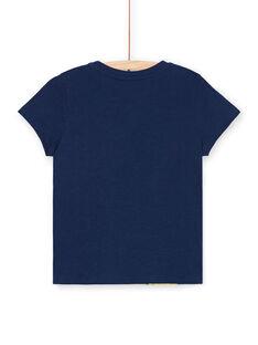 Camiseta azul con estampado de pulpo y langosta - Niño LONAUTI1 / 21S902P2TMC070