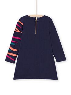 Vestido azul marino para niña MATUROB3 / 21W901K1ROB070