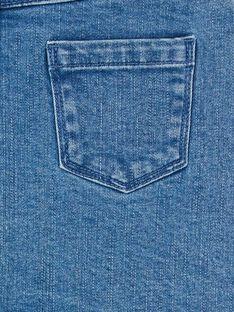 Falda corta vaquera de color azul y rosa LANAUJUP1 / 21S901P1JUPP274