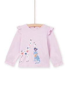 Camiseta rosa con estampado de fantasía para bebé niña MIPLATEE / 21WG09O1TML326