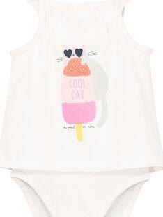 Body efecto doble prenda para bebé niña FICUBOD / 19SG09N1BOD000