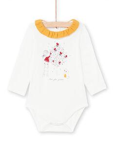 Body de color crudo y mostaza para bebé niña MIMIXBOD1 / 21WG09J2BOD001