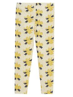 Leggings de color amarillo con estampado JYASOLEG2 / 20SI0181CAL001