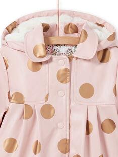 Impermeable rosa de lunares para niña MAPAIMPER / 21W90151IMPD332