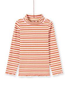 Jersey fino de manga larga de rayas coloridas para niña MACOMSOUP / 21W901L1SPL420