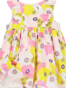 Vestido de satén de algodón para bebé niña FIPOROB2 / 19SG09C2ROB099