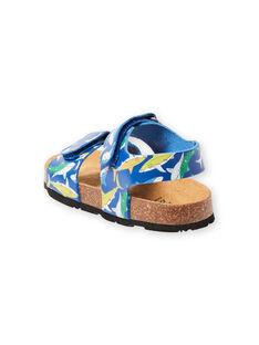 Sandalias de color azul marino con estampado de tiburón para niño LGNUREQUIN / 21KK3654D0E070