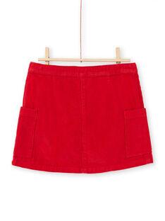 Falda roja de canalé para niña MACOMJUP1 / 21W901L2JUP408