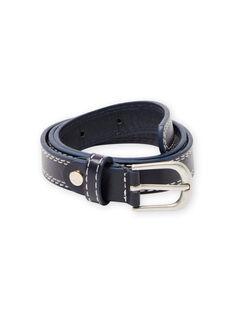 Cinturón de color azul marino con costuras visibles para niño MYOESBELT1 / 21WI02E3CEI070