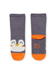 Calcetines grises con estampado de pingüino para bebé niño MYUJOCHOB3 / 21WI1015SOQJ918