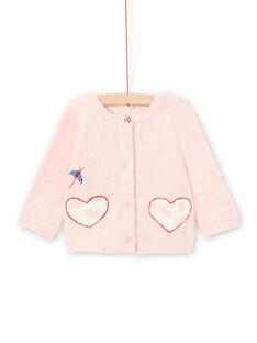 Cárdigan 2 en 1 rosa para bebé niña LICANCAR / 21SG09M2CARD326