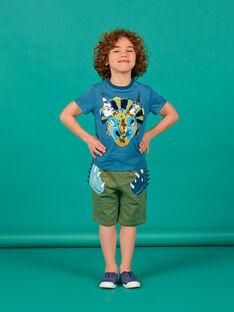 Bermudas de color caqui para niño LOVERBER3 / 21S902Q3BERG631
