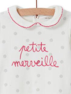 Pelele crudo de lunares con cuello Peter Pan para bebé niña MEFIGRETIT / 21WH1381GRE001