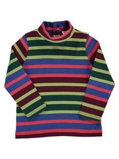 Baby boys' striped polo neck DUVIOSOUP2 / 18WG10H2SPL099