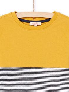 Camiseta amarilla y azul marino para niño MOJOTIDEC2 / 21W90221TML113