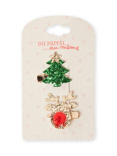 Pack de 2 horquillas de Navidad para niña MYANOCLIC3 / 21WI01T7BRTK008