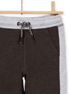 Pantalón de chándal de color antracita y gris jaspeado para niño MOJOJOB2 / 21W90212JGB944