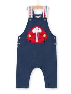 Peto vaquero de color azul oscuro, para bebé niño LUHASAL2 / 21SG10X1SALP274