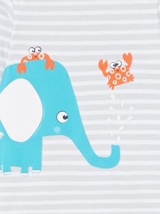 Body de manga larga con elefante para bebé niño LEGABODELE / 21SH1423BDL000