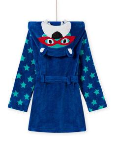 Bata azul con estampado de oso para niño MEGOROBOURS / 21WH1281RDC702