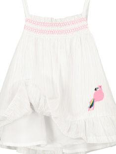 Vestido de tirantes para bebé niña FICUROB4 / 19SG09N4ROB000