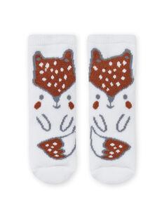 Calcetines con estampado de zorro para niño recién nacido MOU1CHO2 / 21WF4141SOQ001