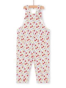 Peto rojo y azul, con estampado floral, para bebé niña LICANSAL / 21SG09M1SAL001