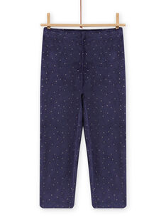 Pijama de terciopelo con estampado de unicornio fosforescente para niña MEFAPYJORN / 21WH1181PYJ070