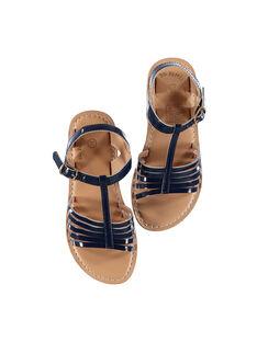 Sandalias de piel de charol para niña FFSANDOLI5 / 19SK35CAD0E070