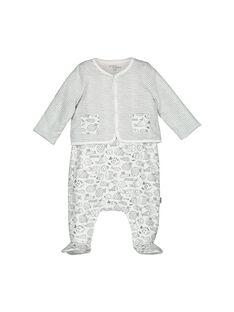 Conjunto de peto y cárdigan para bebé unisex FOU1ENS2 / 19SF0512ENS099