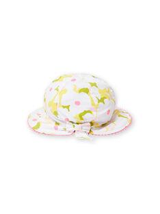 Sombrero con estampado floral para bebé niña LYIBALCHA2 / 21SI09O1CHA000