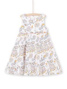 Vestido de color crudo y amarillo con estampado paisley LAPOEROB1 / 21S901Y1ROB001