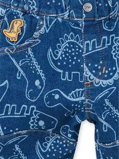 Pantalón azul con estampado de dinosaurio para bebé niño LUCANPAN2 / 21SG10M2PANP272