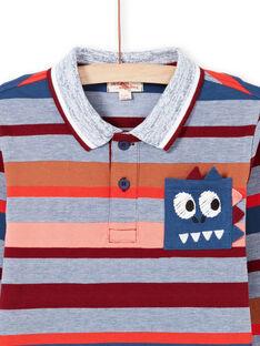 Polo de manga larga de rayas de colores para niño MOPAPOL / 21W902H1POL219