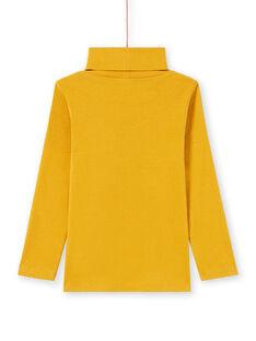 Jersey fino de manga larga liso de color amarillo para niño MOJOSOUP1 / 21W902N1SPL113