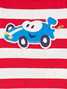 Camiseta de rayas de color rojo y blanco, para bebé niño LUHATEE2 / 21SG10X1TMLF517