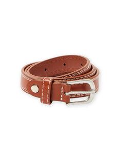 Cinturón de color caramelo con costuras visibles para niño MYOESBELT2 / 21WI02E1CEI420