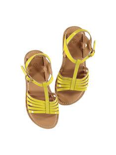 Sandalias de piel de charol para niña FFSANDOLI1 / 19SK35C4D0E010