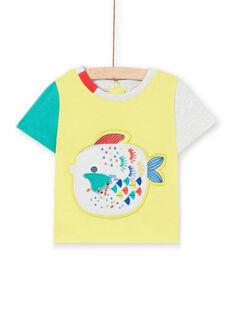 Camiseta amarilla para bebé niño LUVITI3 / 21SG10U1TMCB115