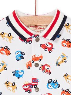 Camisa de color crudo y rojo, con estampado de coche, para bebé niño LUHACHEM / 21SG10X1CHM001