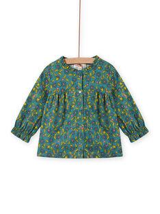 Blusa de manga larga con estampado floral y de rayas para bebé niña MIKACHEM / 21WG09I1BLU612