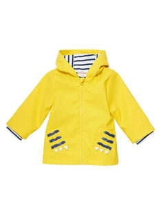 Impermeable de color amarillo JUGROIMP / 20SG10I1IMPB114