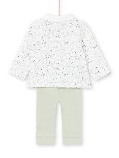 Conjunto de camisa y pantalón de color blanco y caqui para niño recién nacido MOU1ENS4 / 21WF0441ENS001