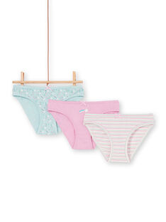 Pack de 3 braguitas de color rosa, azul y crudo, para niña LEFALOT6 / 21SH1124D5L320