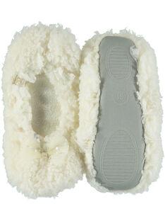 Zapatillas elásticas de color crudo con lazo y brillo para niña GFBALNOEUD / 19WK35Z2D07001