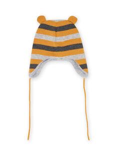 Gorro de punto con rayas para bebé niño MYUGROBON2 / 21WI1061BONJ920