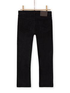 Pantalón liso negro para niño MOJOPAVEL8 / 21W902N4PAN090
